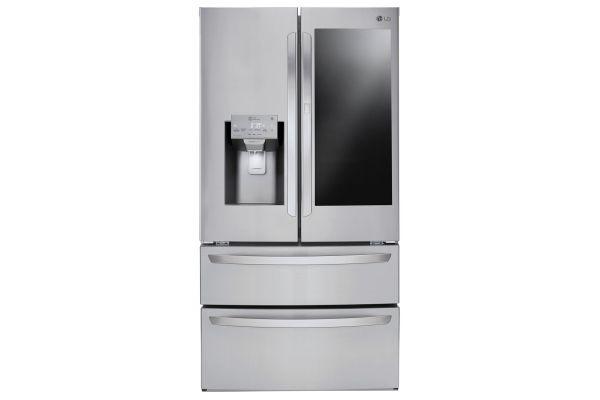 LG 28 Cu. Ft. Stainless Steel Smart Wi-Fi InstaView Door-In-Door French Door Refrigerator - LMXS28596S