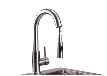Lynx Professional Stainless Steel Gooseneck Pull Down Faucet - LPFK