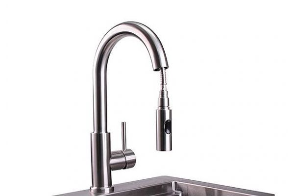 Large image of Lynx Professional Stainless Steel Gooseneck Pull Down Faucet - LPFK