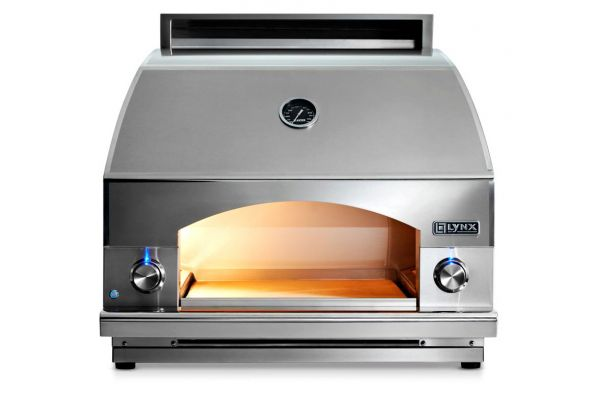 "Large image of Lynx Napoli 30"" Stainless Steel Outdoor Natural Gas Oven - LPZANG"