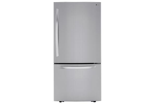 Large image of LG 26 Cu. Ft. PrintProof Stainless Steel Bottom Freezer Refrigerator - LRDCS2603S