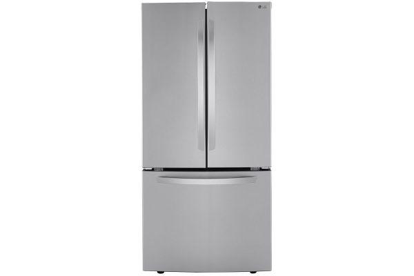 Large image of LG 25 Cu. Ft. PrintProof Stainless Steel French Door Refrigerator - LRFCS2503S