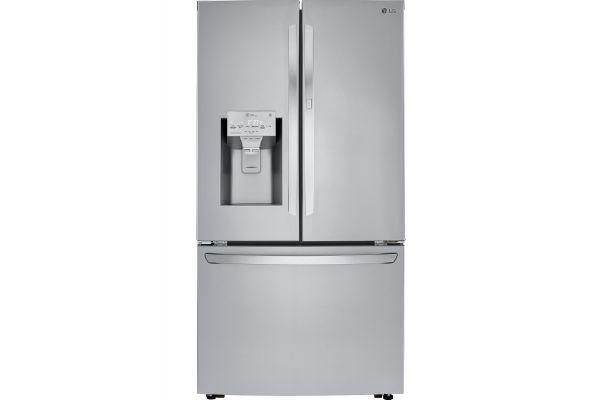 LG PrintProof Stainless Steel Four Door Refrigerator - LRFDS3006S - LRFDS3006S