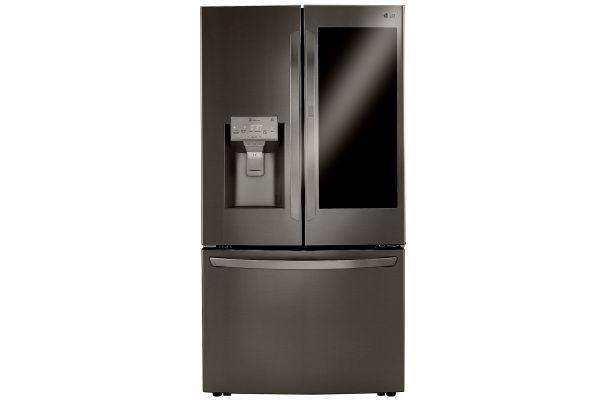 LG 24 Cu. Ft. Black Stainless Steel Smart Wi-Fi InstaView Door-In-Door Counter-Depth Refrigerator  With Craft Ice Maker - LRFVC2406D