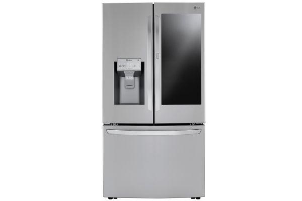 LG 24 Cu. Ft. Stainless Steel Smart Wi-Fi InstaView Door-In-Door Counter-Depth Refrigerator With Craft Ice Maker - LRFVC2406S