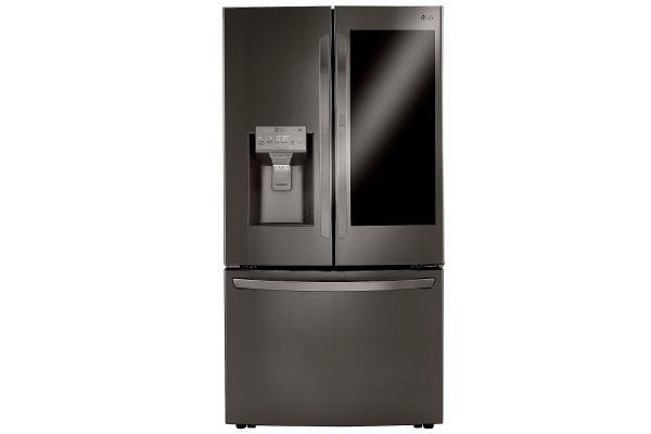 LG 30 Cu. Ft. PrintProof Black Stainless Steel Smart Wi-Fi Enabled InstaView Door-In-Door Refrigerator With Craft Ice Maker - LRFVS3006D