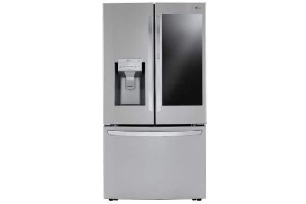 Large image of LG 30 Cu. Ft. PrintProof Stainless Steel Smart Wi-Fi Enabled InstaView Door-In-Door Refrigerator With Craft Ice Maker - LRFVS3006S