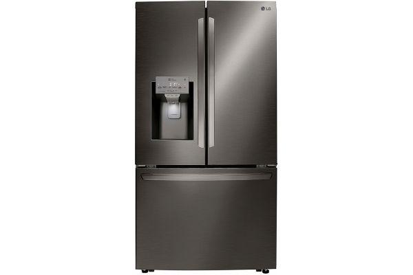 LG PrintProof Black Stainless Steel Counter Depth French Door Refrigerator - LRFXC2406D