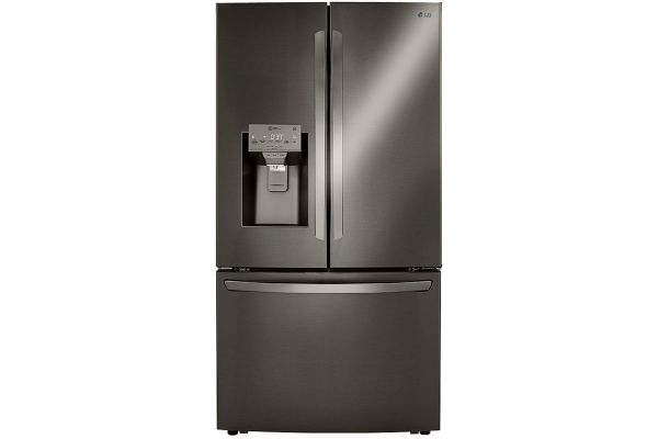Large image of LG 24 Cu. Ft. Smart Wi-Fi Enabled Black Stainless Steel Counter-Depth Refrigerator With Craft Ice Maker - LRFXC2416D