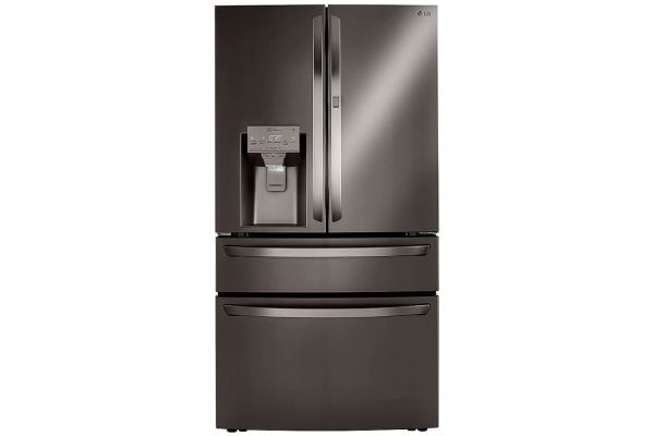 Large image of LG 23 Cu. Ft. PrintProof Black Stainless Steel Smart Wi-Fi Enabled Counter-Depth Refrigerator With Craft Ice Maker - LRMDC2306D