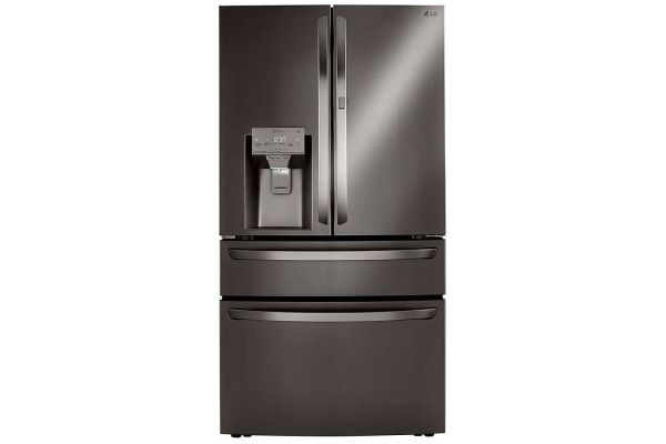 Large image of LG 30 Cu. Ft. PrintProof Black Stainless Steel Smart Wi-Fi Enabled Refrigerator With Craft Ice Maker - LRMDS3006D