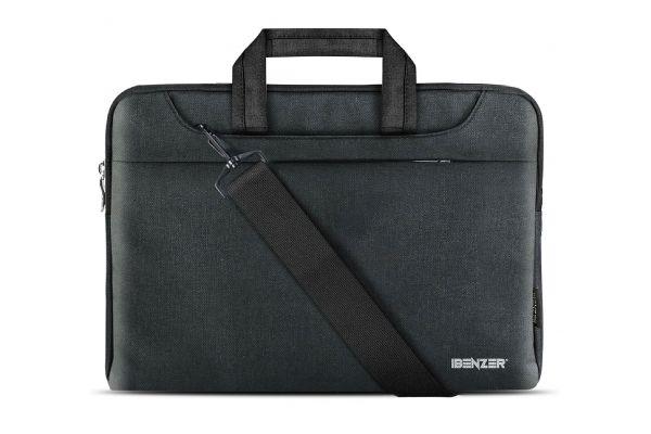 "Large image of iBenzer 15.6"" Black Laptop Sleeve Carrying Case - LS-SLD-0115BK"