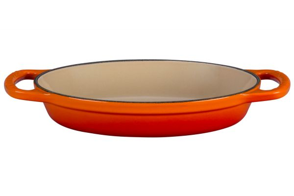Large image of Le Creuset Signature 0.63 Qt. Flame Oval Baker - LS2088-202