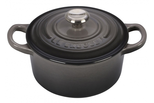 Large image of Le Creuset 1 Qt. Oyster Round Dutch Oven - LS2501-147FSS