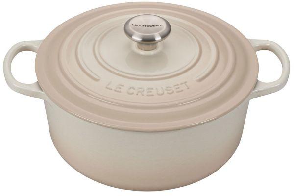 Large image of Le Creuset 4.5 Qt. Meringue Round Dutch Oven - LS2501-24716SS