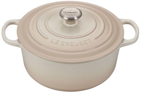 Large image of Le Creuset 5.5 Qt. Meringue Round Dutch Oven - LS2501-26716SS