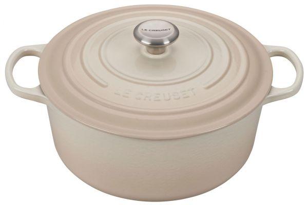Large image of Le Creuset 7.25 Qt. Meringue Round Dutch Oven - LS2501-28716SS