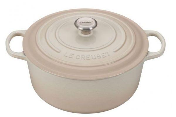 Large image of Le Creuset 9 Qt. Meringue Round Dutch Oven - LS2501-30716SS