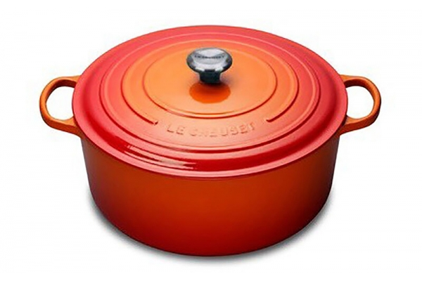 Large image of Le Creuset 13.25 Qt. Flame Round Dutch Oven - LS2501-342SS