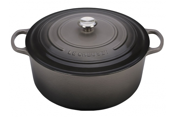 Large image of Le Creuset 13.25 Qt. Oyster Round Dutch Oven - LS2501-347FSS