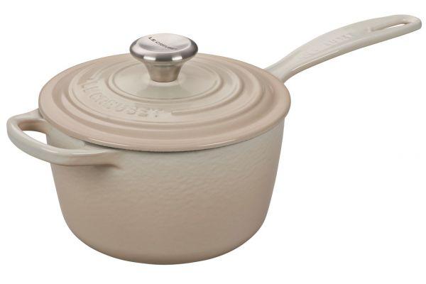 Large image of Le Creuset 1.75 Quart Meringue Saucepan With Lid - LS2518-16716SS