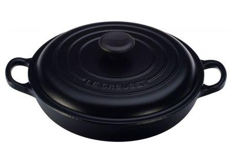 Le Creuset 1-1/2 Qt. Matte Black Braiser  - LS2532-2220