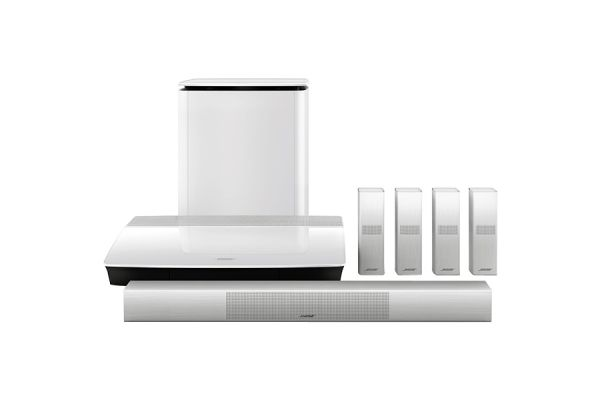 Large image of Bose White Lifestyle 650 Home Entertainment System - 761683-1210