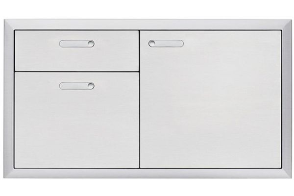 "Lynx Professional 42"" Stainless Steel Ventana Storage Door & Double Drawer Combination - LSA42-4"