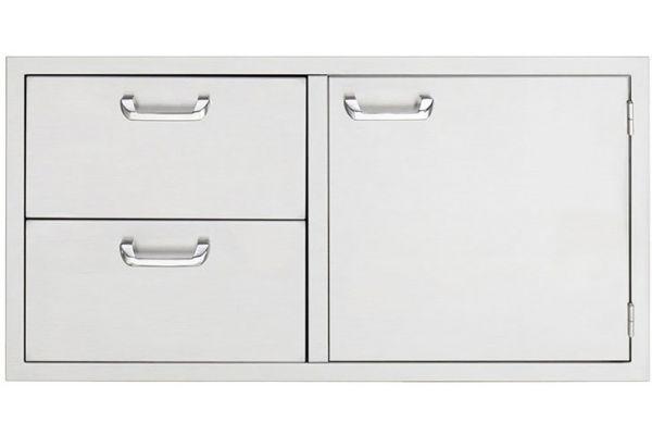 "Large image of Lynx 42"" Stainless Steel Sedona Door Drawer Combination - LSA742"