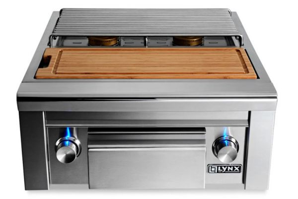 Large image of Lynx Professional Prep Center With Double Side Burner - LSB2PC-1LP