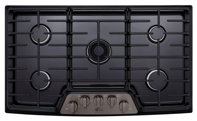 Lg Studio 36 Black Stainless Steel Gas Cooktops Lscg367bd