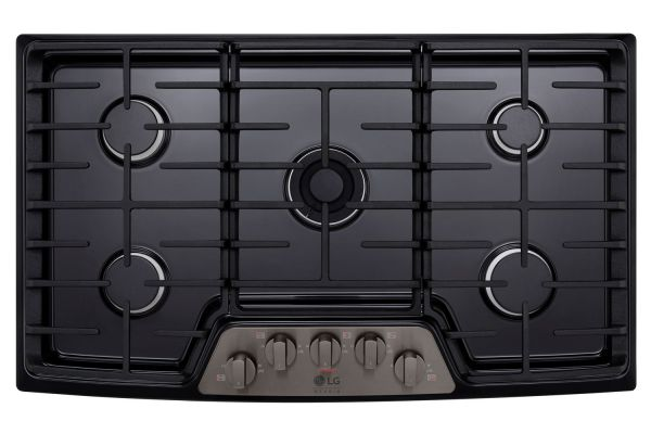 "LG STUDIO 36"" Black Stainless Steel Gas Cooktops - LSCG367BD"