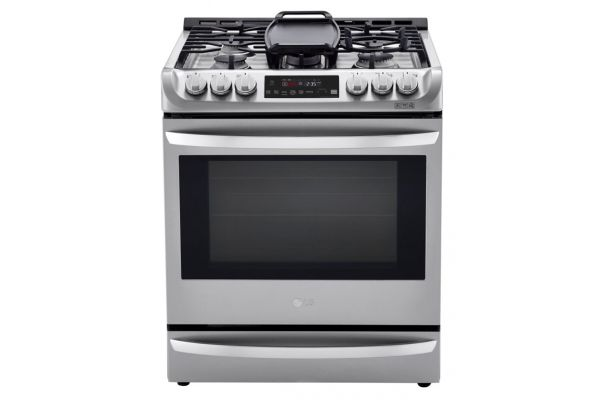 """Large image of LG 30"""" Stainless Steel Dual Fuel Smart Slide-In Range With ProBake Convection & EasyClean - LSD4913ST"""