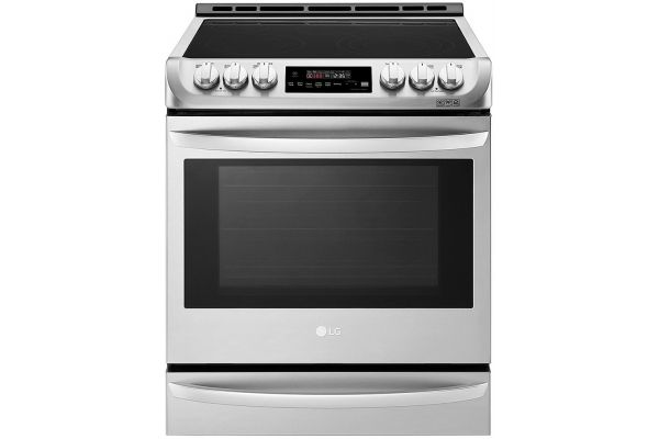 Large image of LG Stainless Steel Electric Convection Slide-In Range - LSE4615ST