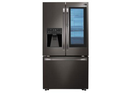 LG STUDIO 24 Cu. Ft. Black Stainless InstaView Door-In-Door Counter-Depth French-Door Refrigerator  - LSFXC2496D