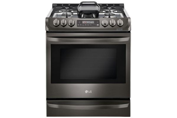 Large image of LG 6.3 Cu. Ft. Black Stainless Steel Gas Single Oven Slide-In Range With ProBake Convection And EasyClean - LSG4513BD