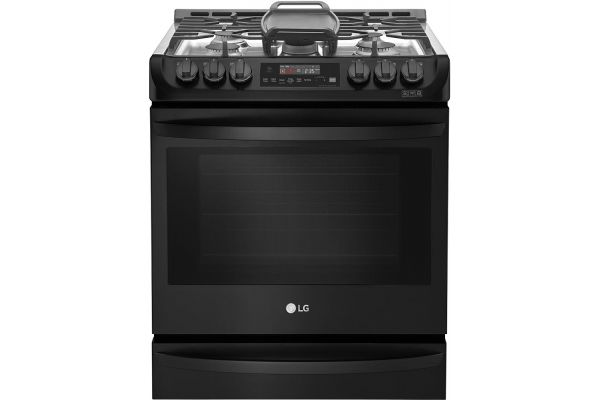 LG Matte Black Stainless Steel Slide-In Gas Range - LSG4515BM