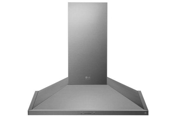 "Large image of LG STUDIO 36"" Stainless Steel Wall Mount Chimney Hood - LSHD3680ST"