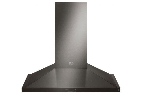 "LG STUDIO 36"" Black Stainless Steel Wall Mount Hood - LSHD3689BD"