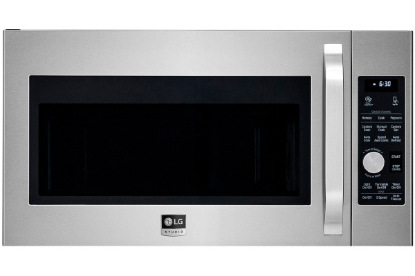 Large image of LG STUDIO 1.7 Cu. Ft. PrintProof Stainless Steel Over-The-Range Convection Microwave Oven - LSMC3086SS