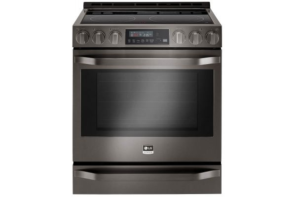 LG STUDIO 6.3 Cu. Ft. Smart Black Stainless Steel Slide-In Electric Range - LSSE3030BD