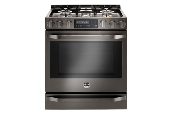 Large image of LG STUDIO 6.3 Cu. Ft. Black Stainless Steel Slide-In Gas Range  - LSSG3019BD