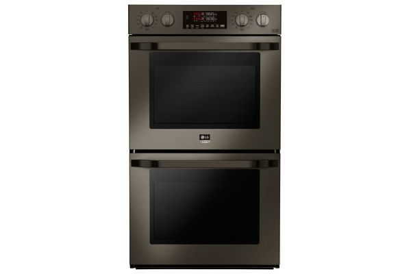 "LG STUDIO 30"" Black Stainless Steel Smart Double Oven - LSWD300BD"