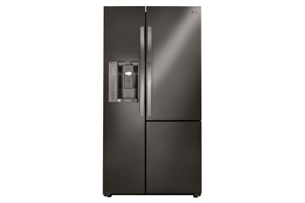 Large image of LG 26 Cu. Ft. Black Stainless Steel Side-By-Side Refrigerator With Door-In-Door - LSXS26366D