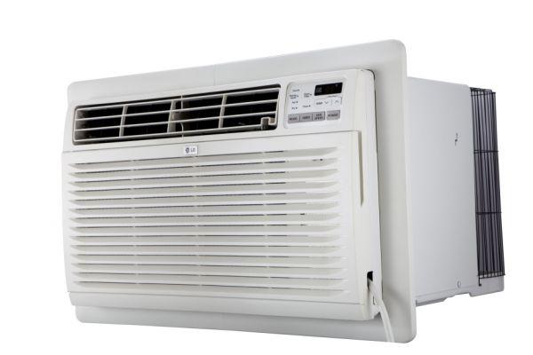 LG White 10,000 BTU 230V Through-The-Wall Air Conditioner With Heat - LT1037HNR