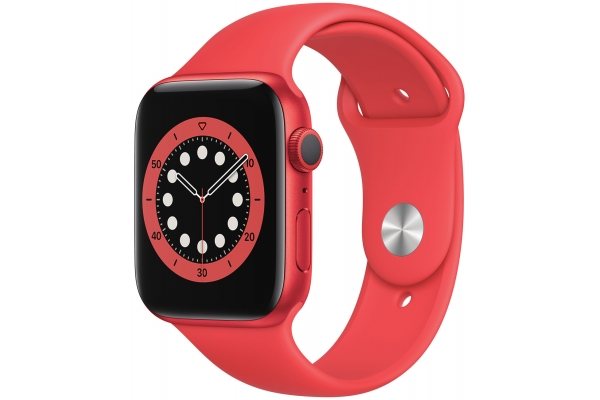 Large image of Apple Watch Series 6 GPS 40mm PRODUCT(RED) Aluminum Case With PRODUCT(RED) Sport Band - M00A3LL/A