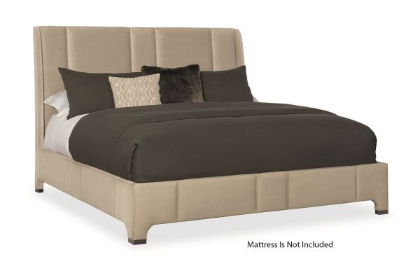Caracole Modern Fusion Elements Sand Velvet Fabric King Bed - M053-017-122