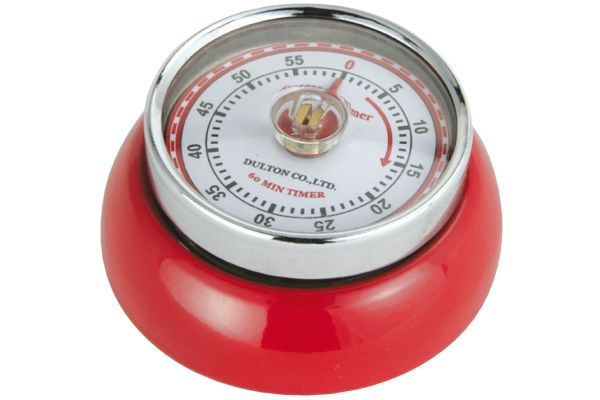 Large image of Zassenhaus Red Retro Kitchen Timer - M072327