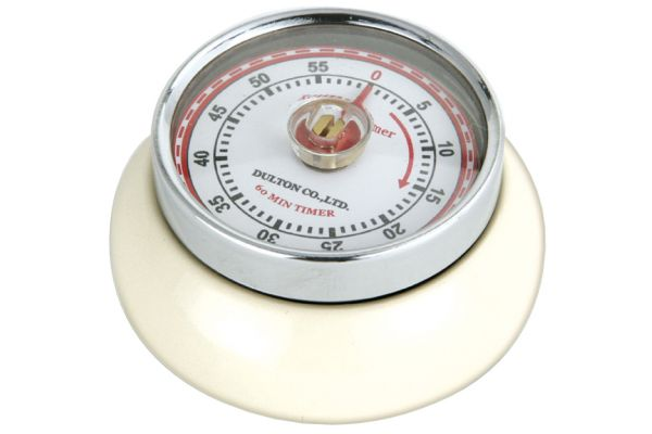 Large image of Zassenhaus Cream Retro Kitchen Timer - M072334