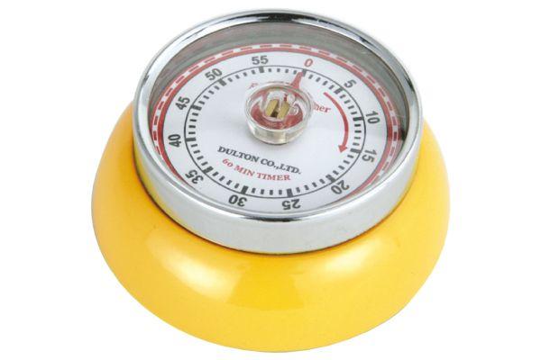 Large image of Zassenhaus Yellow Retro Kitchen Timer - M072341